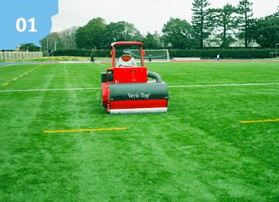 芝猿の人工芝の強度は駐車場にも耐えられます